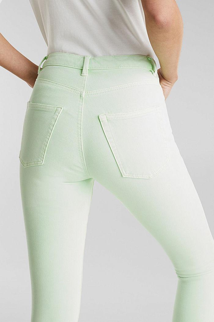 Knöchellange Jeans mit Vintage-Säumen, LIME YELLOW, detail image number 2