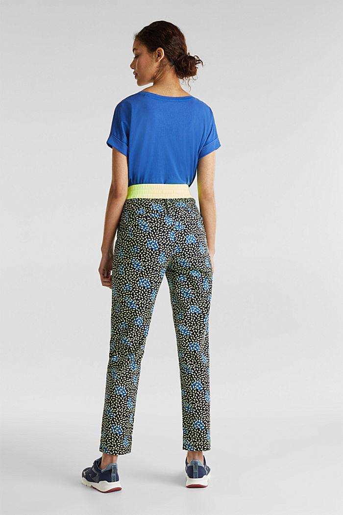 Pantaloni stile jogger con stampa grafica, 100% cotone, NAVY, detail image number 3