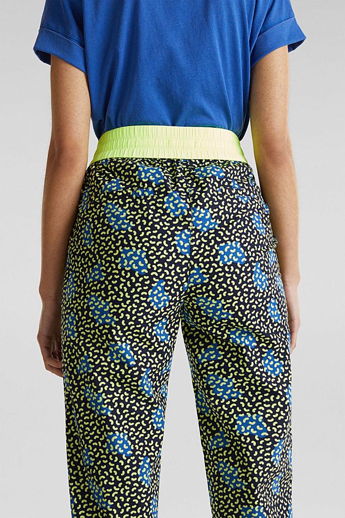 Pantaloni stile jogger con stampa grafica, 100% cotone, NAVY, detail image number 5