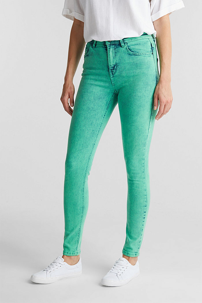 Skinny Stretch-Jeans, GREEN, detail image number 0