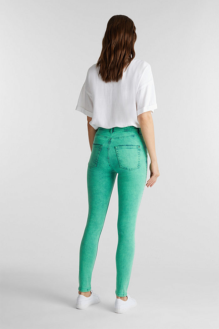 Skinny Stretch-Jeans, GREEN, detail image number 3