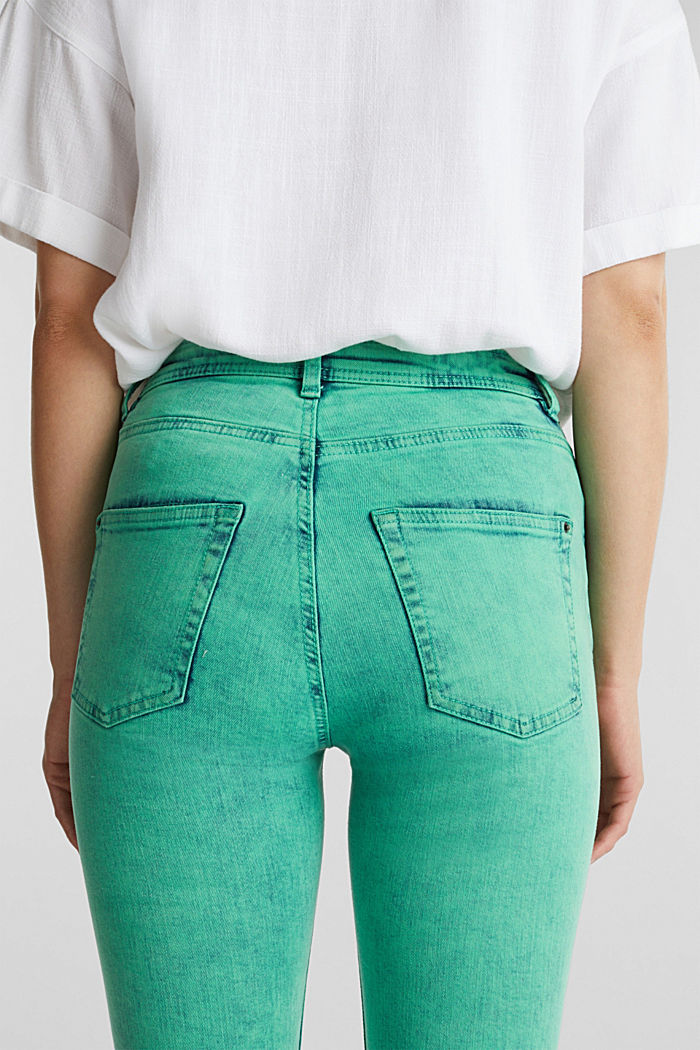 Skinny stretch jeans, GREEN, detail image number 5