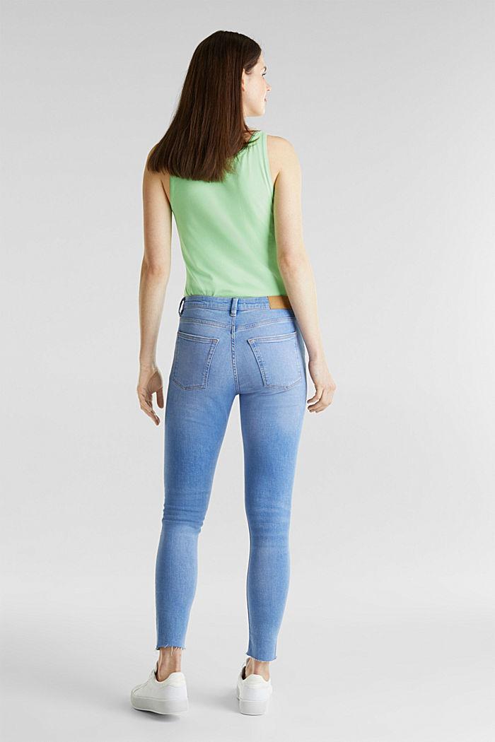 Knöchellange Destroyed-Jeans, BRIGHT BLUE, detail image number 3