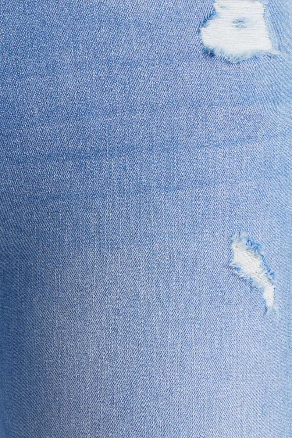 Ankle-length distressed jeans, BRIGHT BLUE, detail image number 4