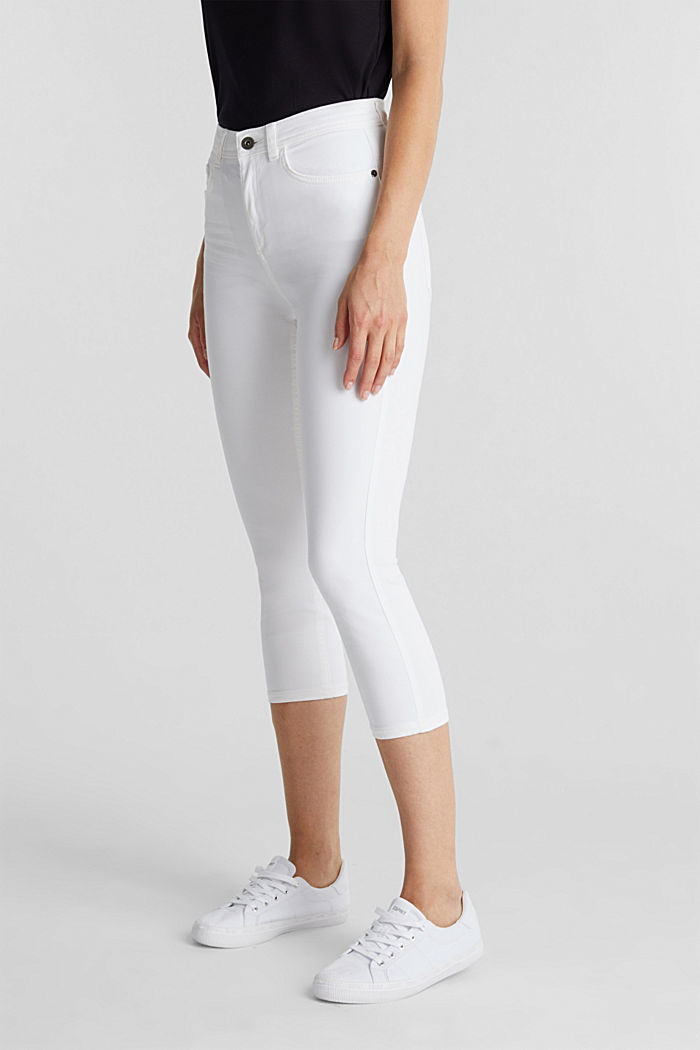 Super stretch capri trousers, WHITE, detail image number 6