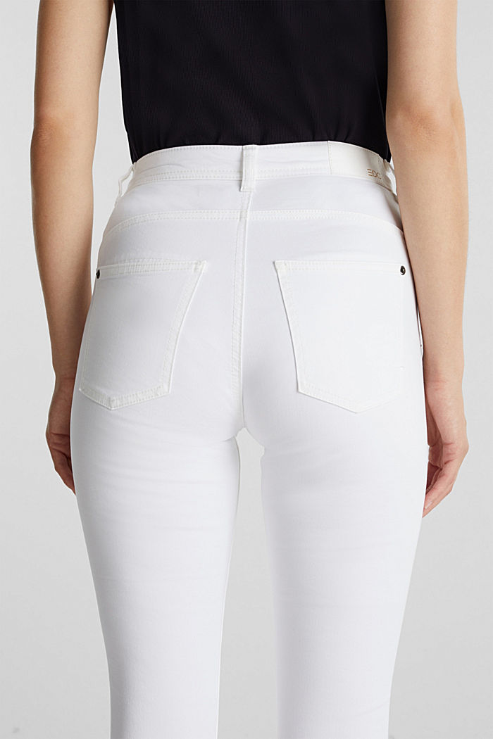 Super stretch capri trousers, WHITE, detail image number 5