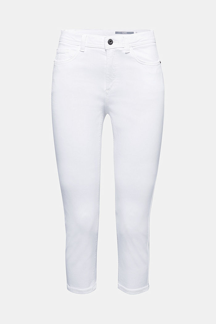 Super stretch capri trousers, WHITE, detail image number 7