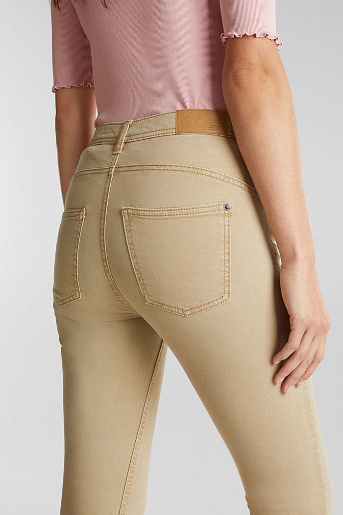 Super stretch capri trousers, KHAKI BEIGE, detail image number 2