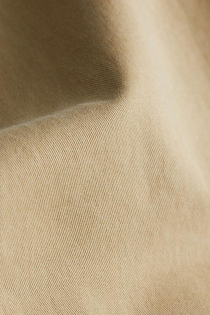 Super stretch capri trousers, KHAKI BEIGE, detail image number 4