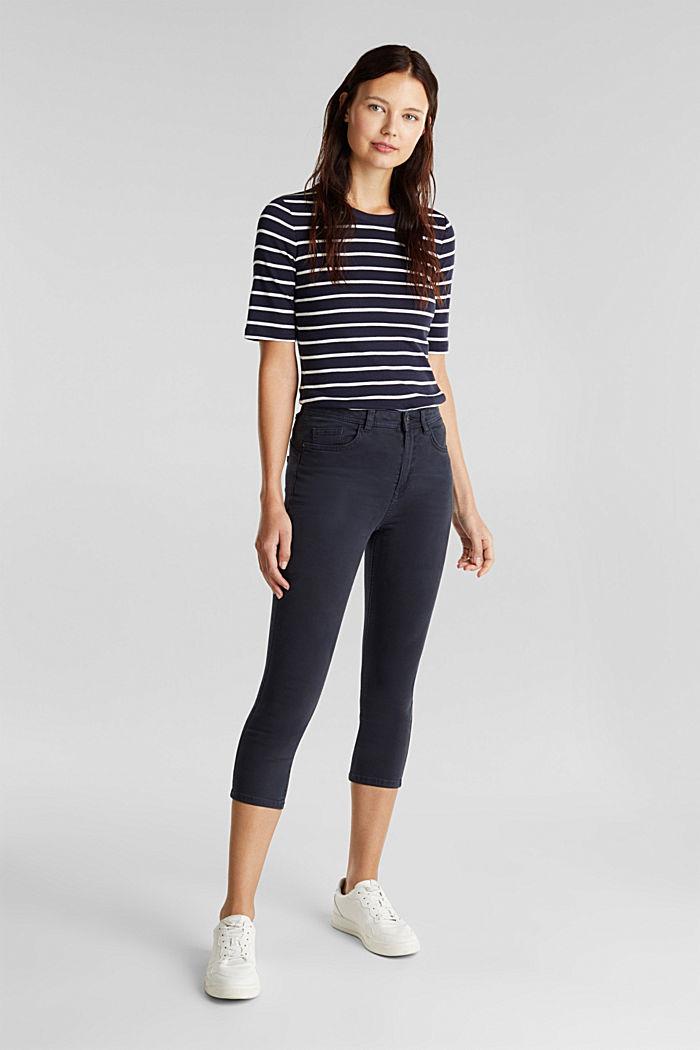 Pantalon corsaire super stretch, NAVY, detail image number 1