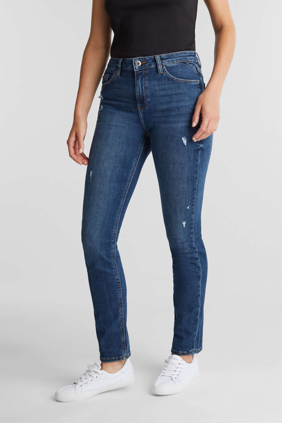 edc - Ankle-length jeans with a vintage finish