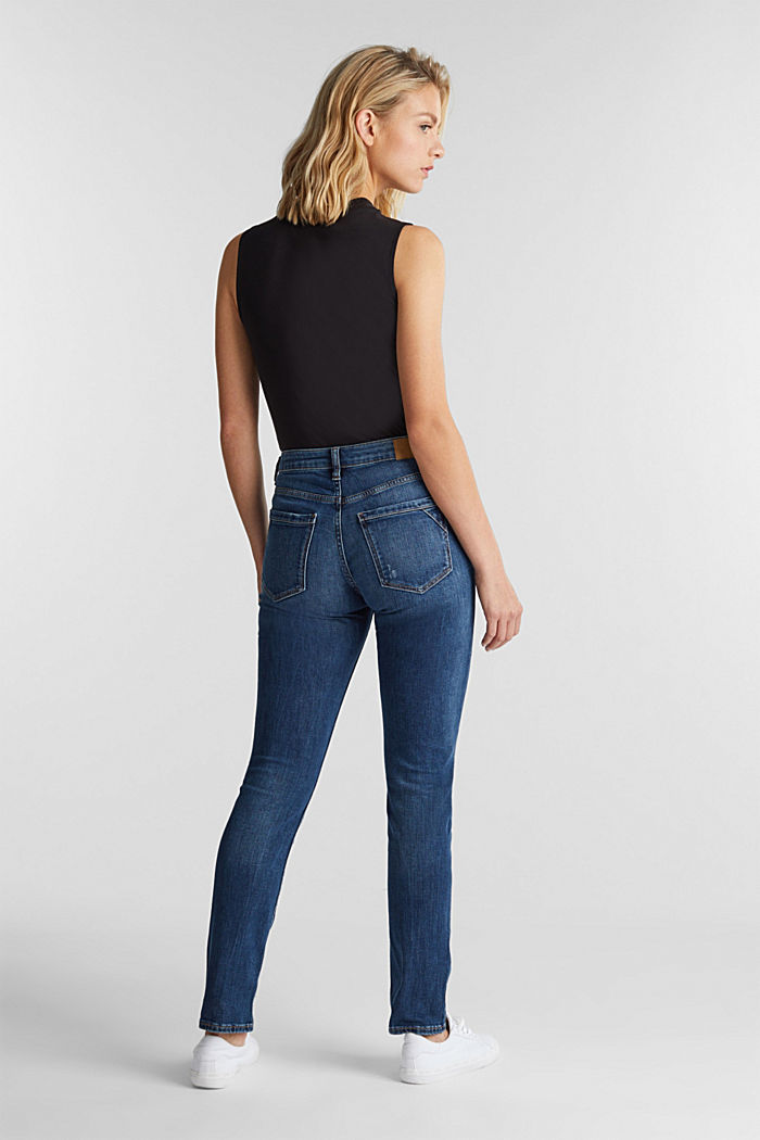 Ankle-length jeans with a vintage finish, BLUE MEDIUM WASHED, detail image number 3
