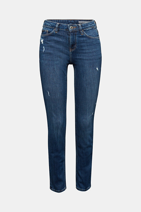 Ankle-length jeans with a vintage finish