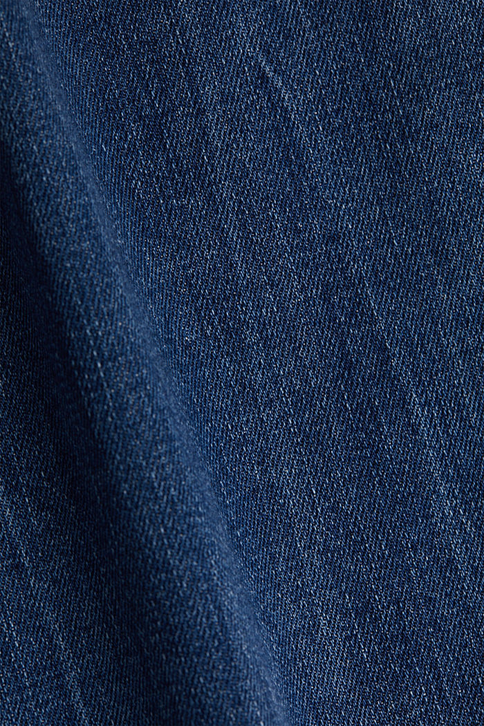 Ankle-length jeans with a vintage finish, BLUE LIGHT WASHED, detail image number 3