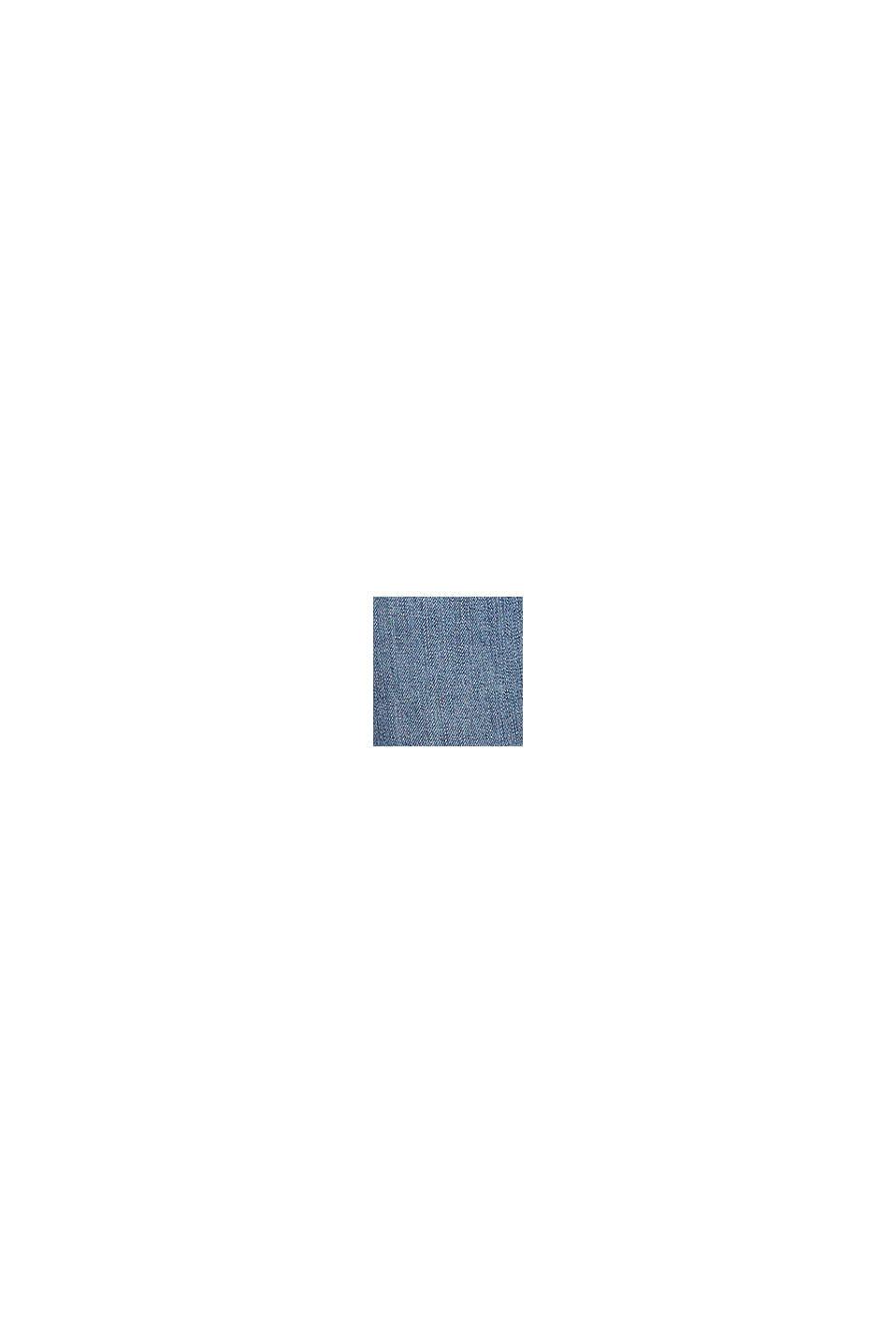 Nilkkapituiset farkut, joissa kulutustehosteet, BLUE LIGHT WASHED, swatch
