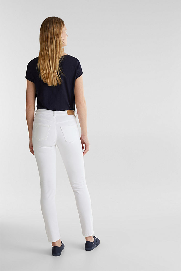 Knöchellange Used-Look-Jeans, WHITE, detail image number 3