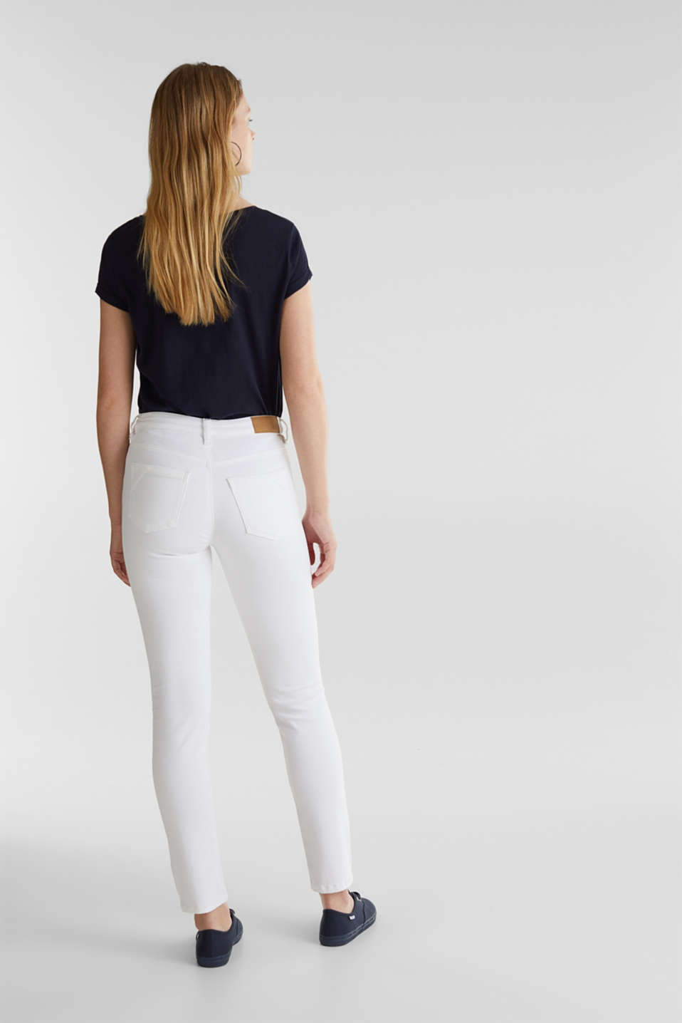 Ankle-length jeans in a vintage look, WHITE, detail image number 3