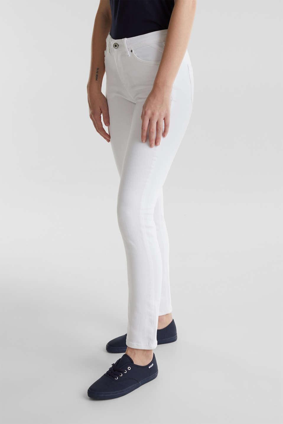 Ankle-length basic jeans, WHITE, detail image number 5