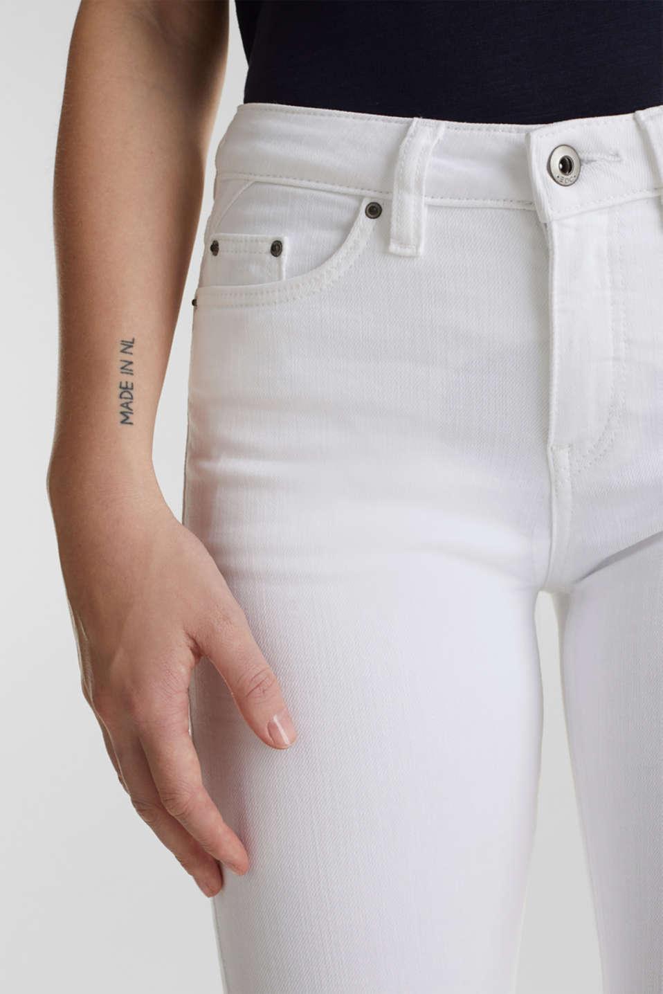 Ankle-length basic jeans, WHITE, detail image number 2