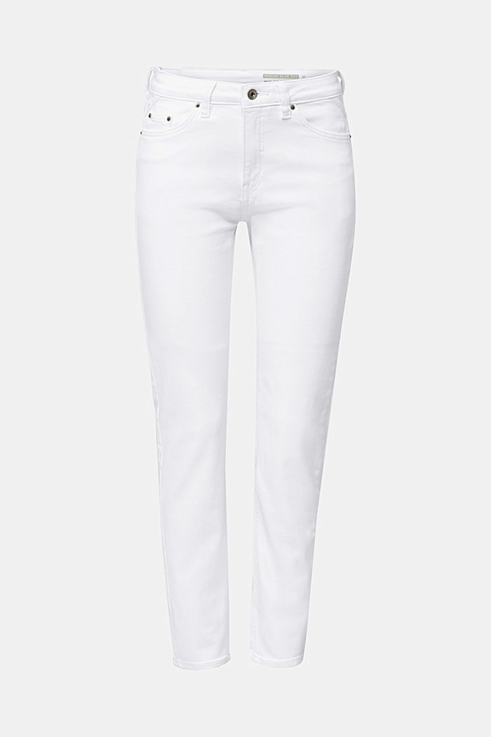 Knöchellange Used-Look-Jeans, WHITE, detail image number 6