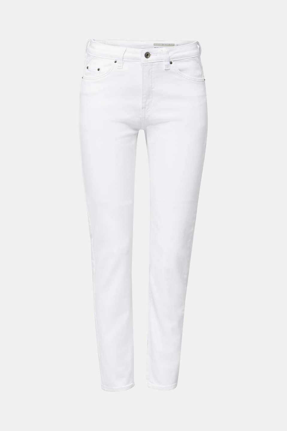 Ankle-length basic jeans, WHITE, detail image number 6