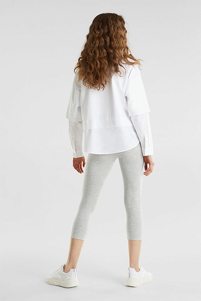Opaque capri leggings, LIGHT GREY, detail image number 3