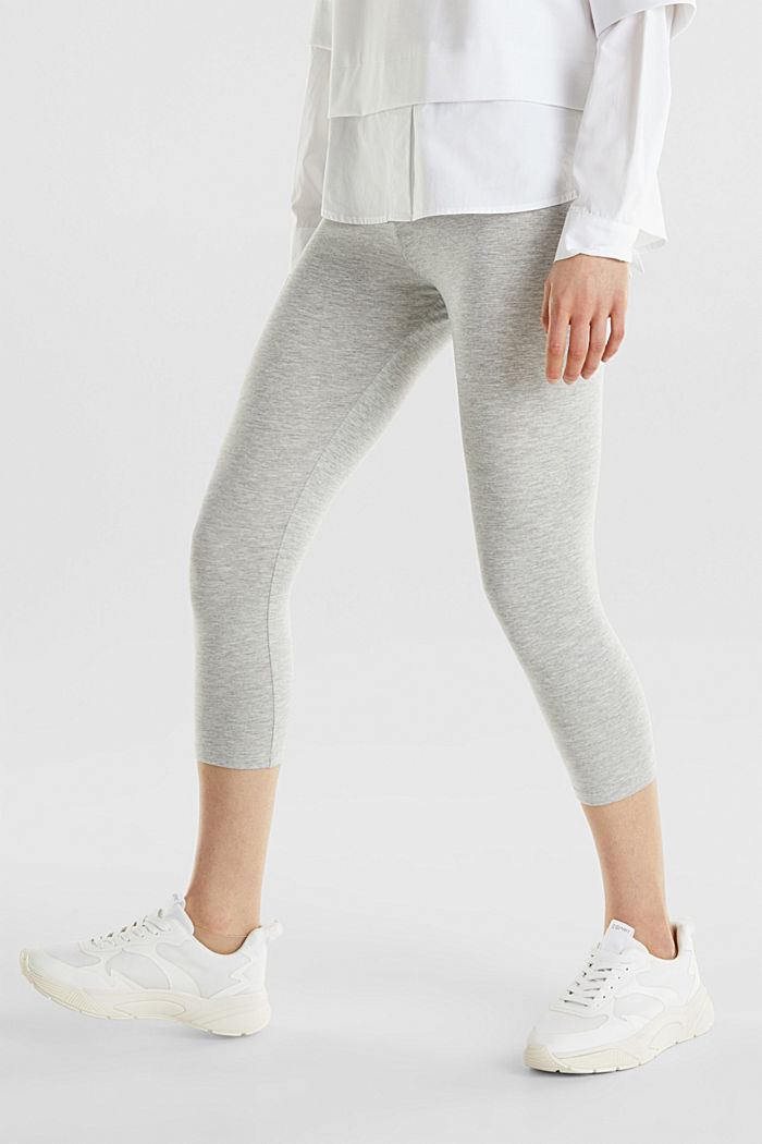 Opaque capri leggings, LIGHT GREY, detail image number 5