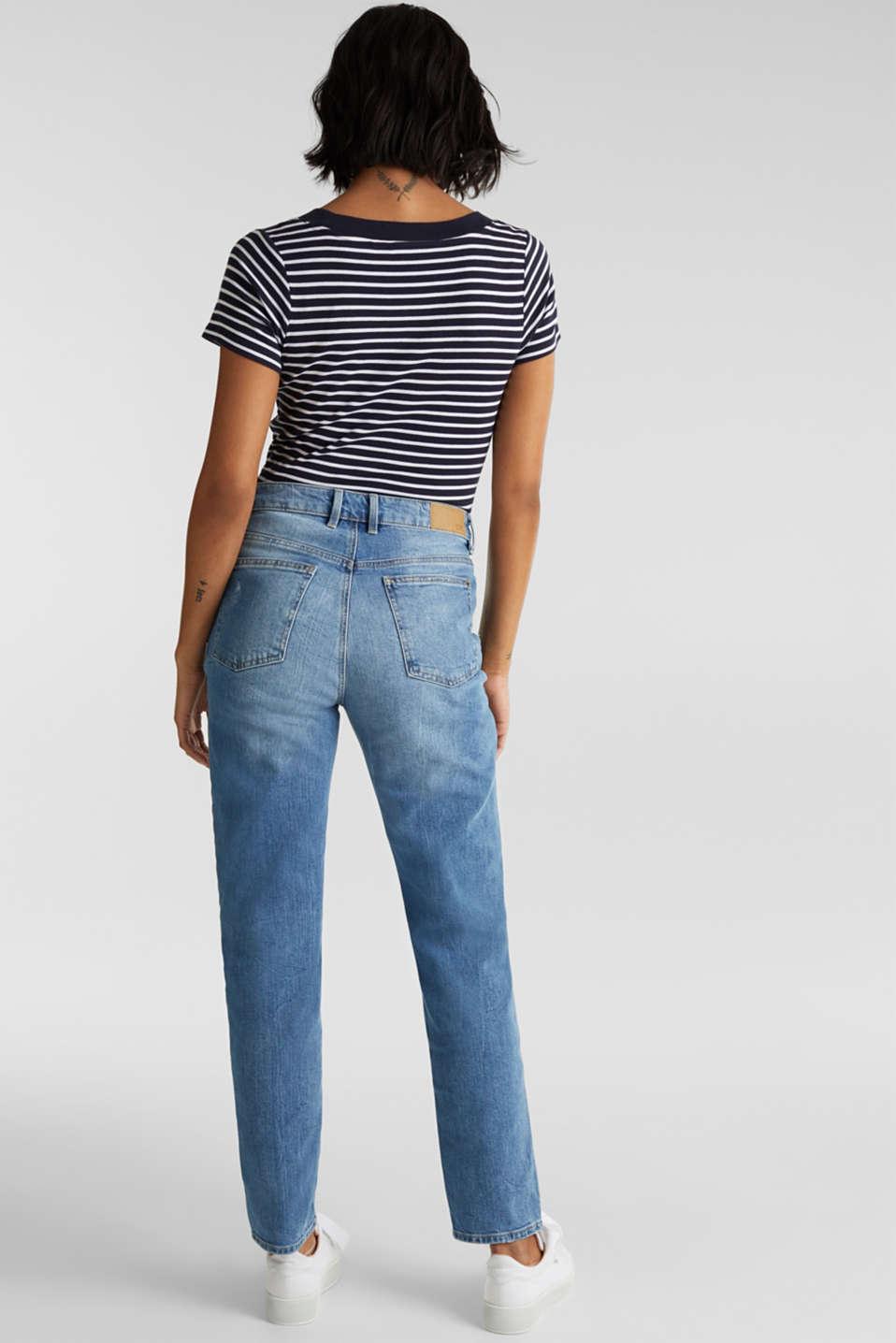 Jeans with vintage details, BLUE LIGHT WASH, detail image number 3