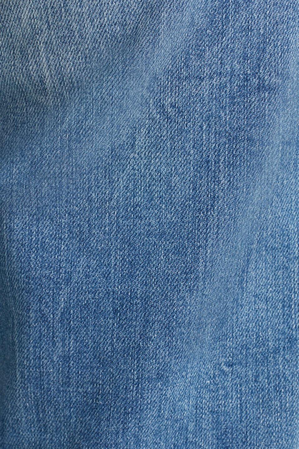 Jeans with vintage details, BLUE LIGHT WASH, detail image number 4
