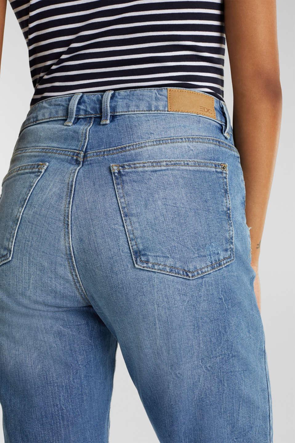 Jeans with vintage details, BLUE LIGHT WASH, detail image number 5