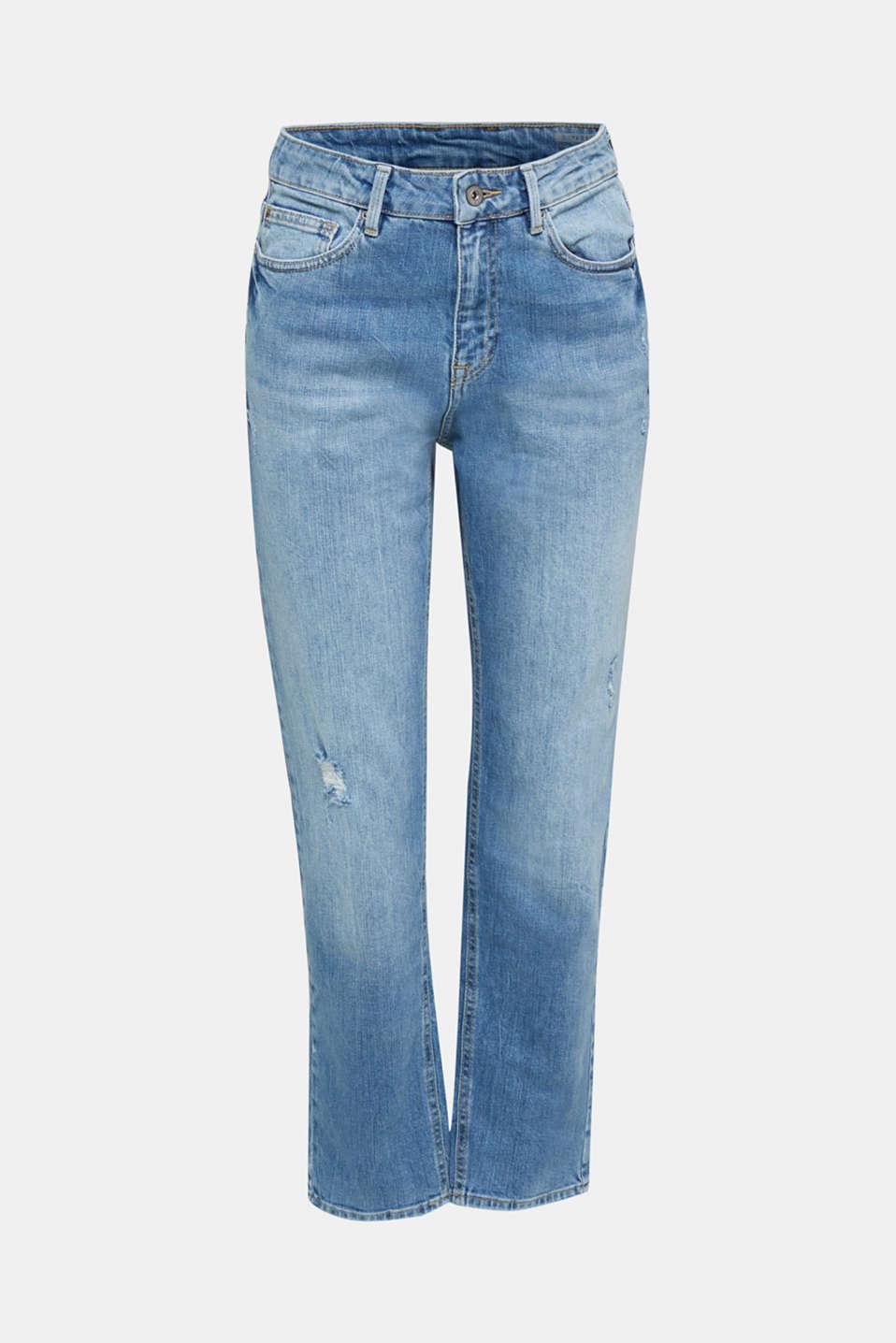 Jeans with vintage details, BLUE LIGHT WASH, detail image number 6