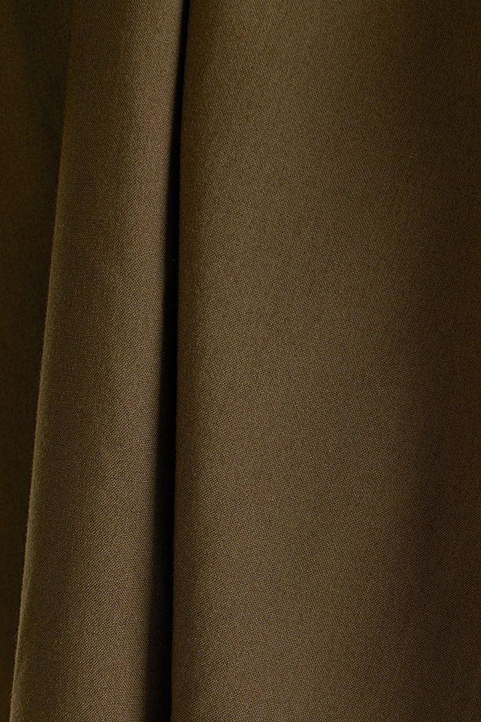 Culottes with an elasticated waistband, KHAKI GREEN, detail image number 4