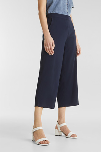Culottes with an elasticated waistband