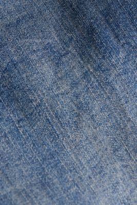 Super stretch Bermudas with a high waistband, BLUE MEDIUM WASH, detail
