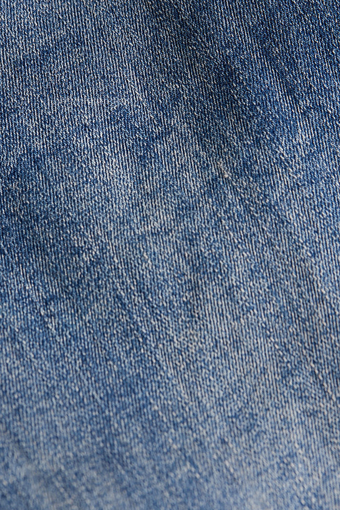 Superstretch-Bermuda mit hohem Bund, BLUE MEDIUM WASHED, detail image number 4