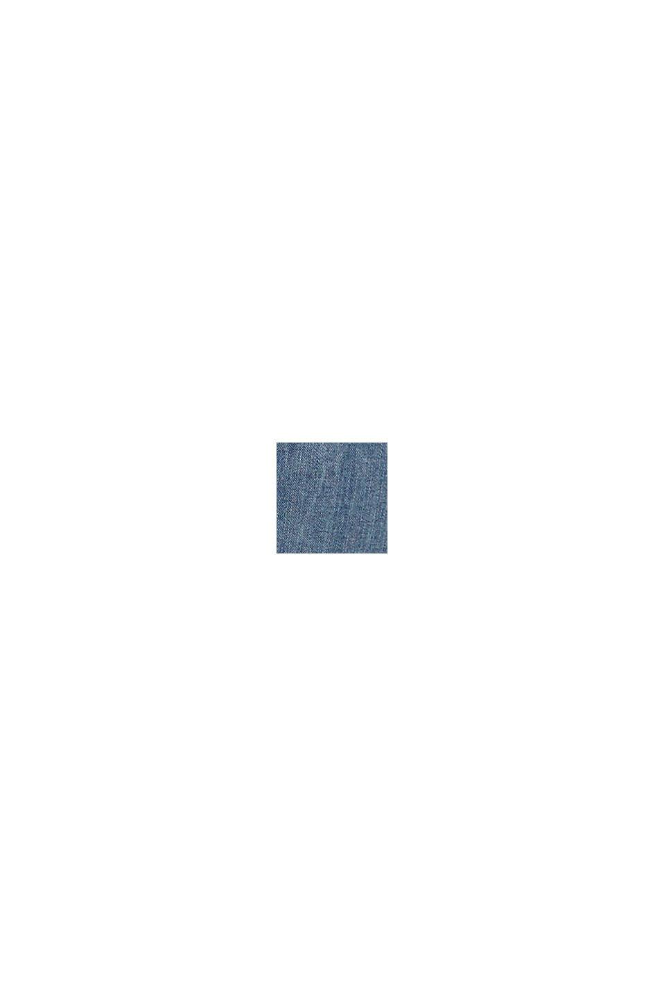 Superstretchiga bermudas med hög midja, BLUE MEDIUM WASHED, swatch