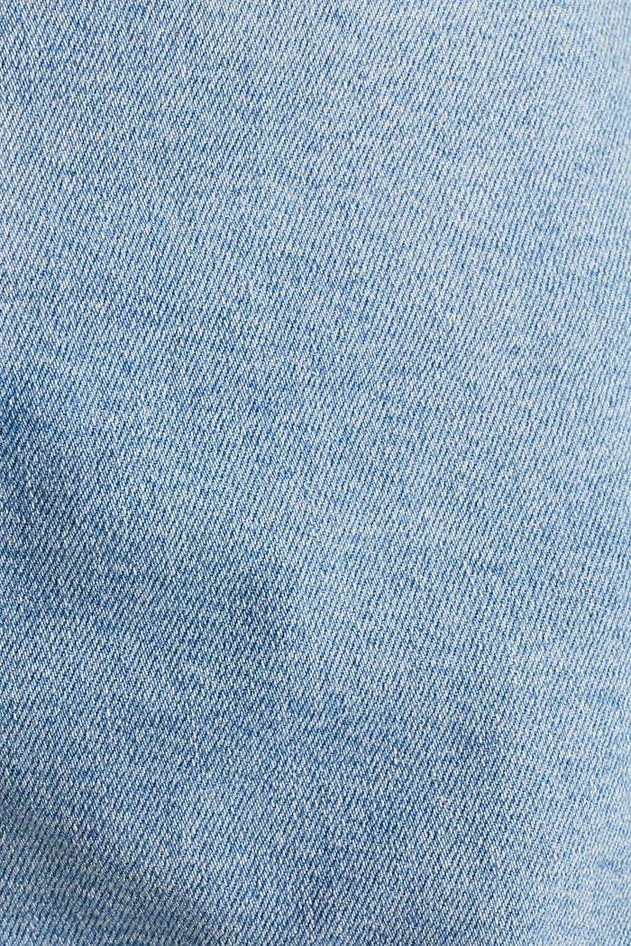 High-Rise-Shorts aus Denim, BLUE LIGHT WASHED, detail image number 4
