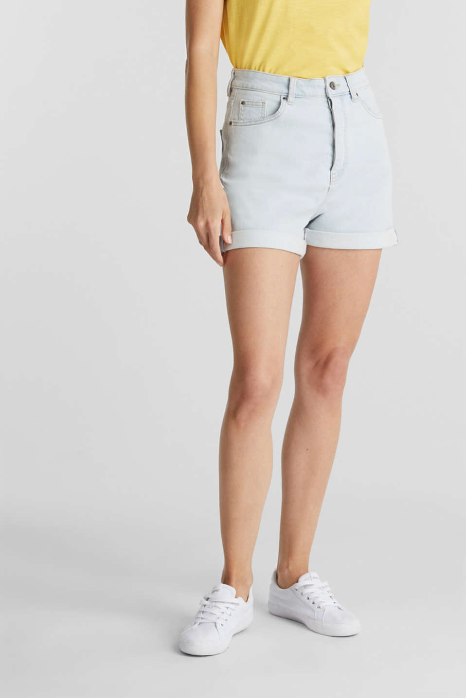 edc - High rise-shorts af denim