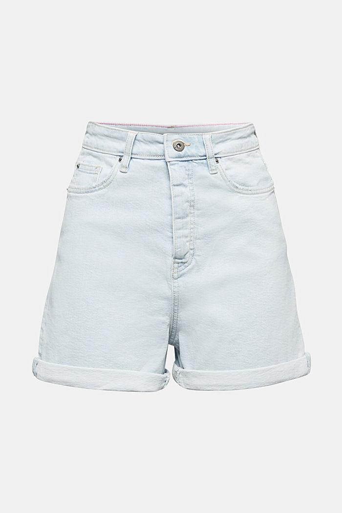 High-rise denim shorts, BLUE BLEACHED, detail image number 5