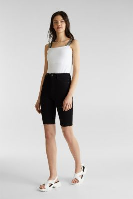 Super stretch Bermudas, BLACK RINSE, detail