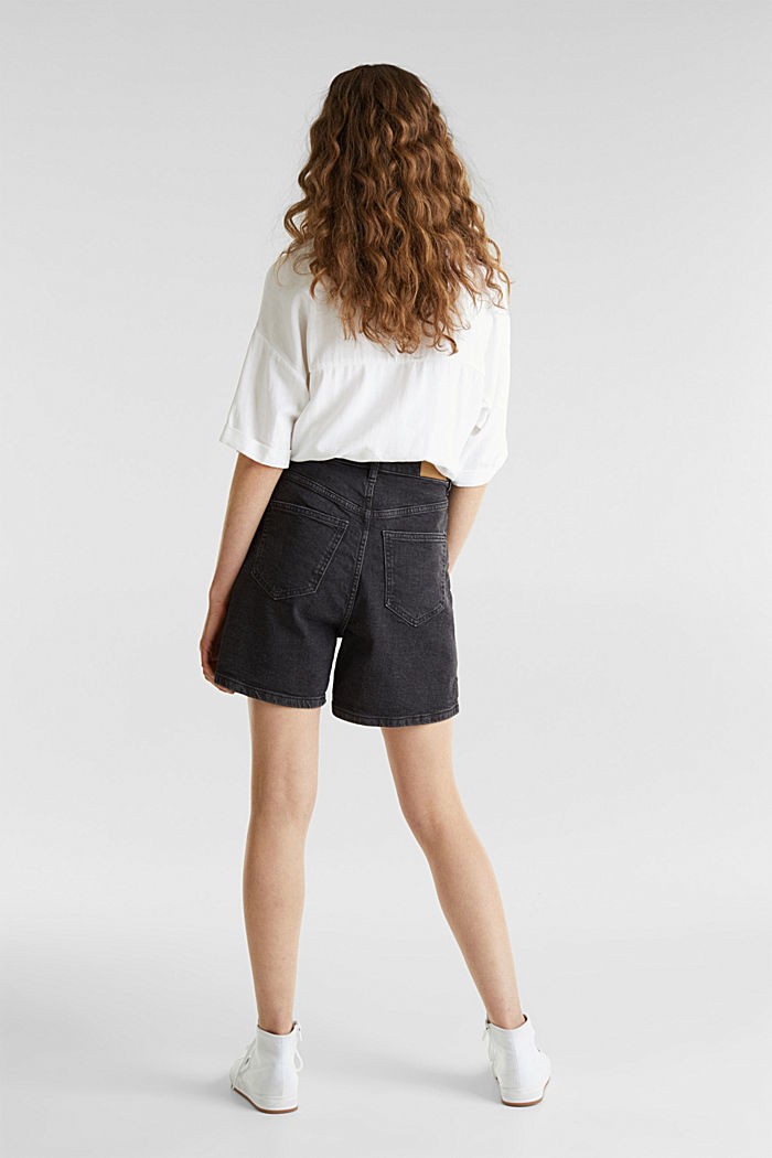 High-Waist-Shorts, Denim, BLACK MEDIUM WASHED, detail image number 3
