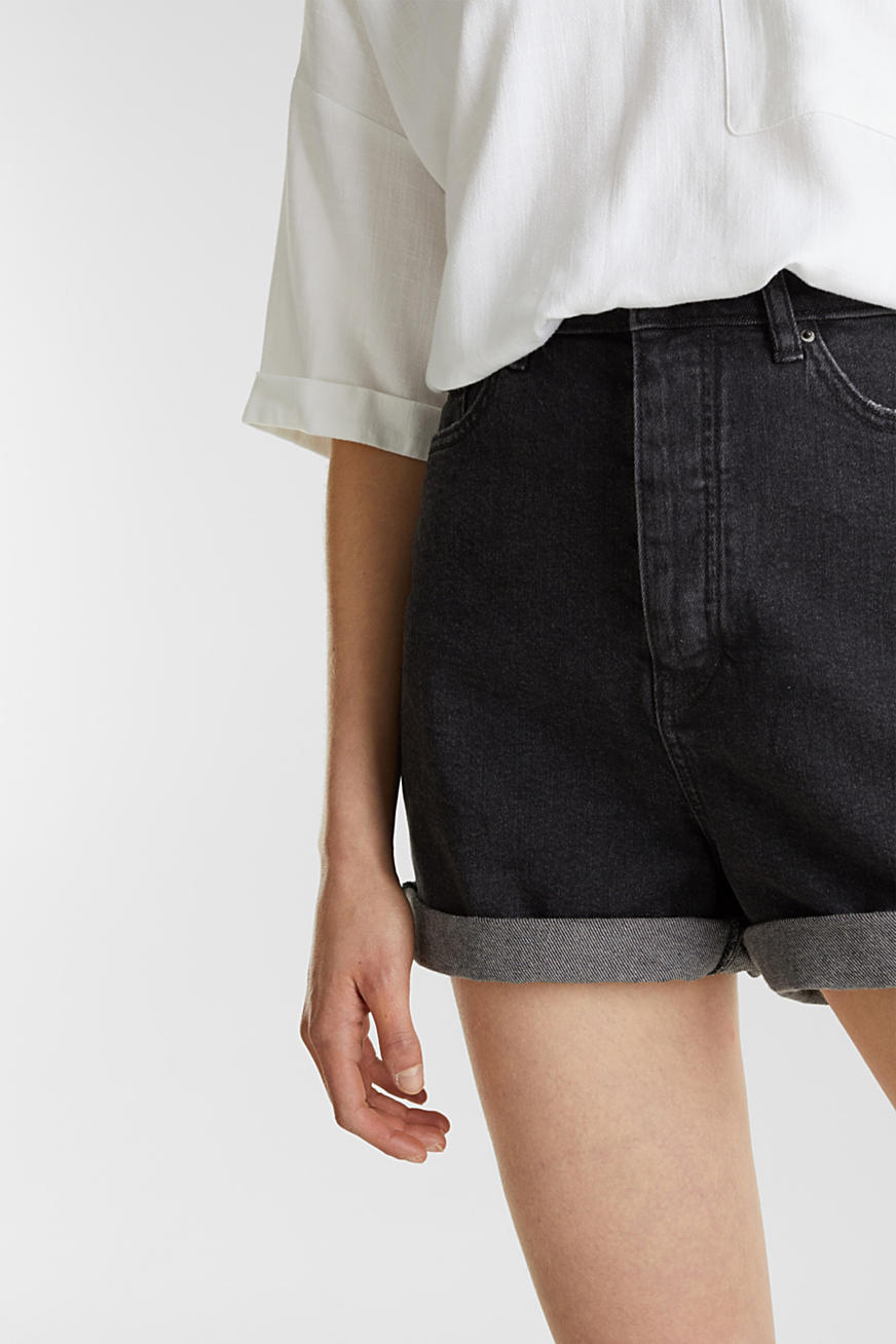 High-Waist-Shorts, Denim