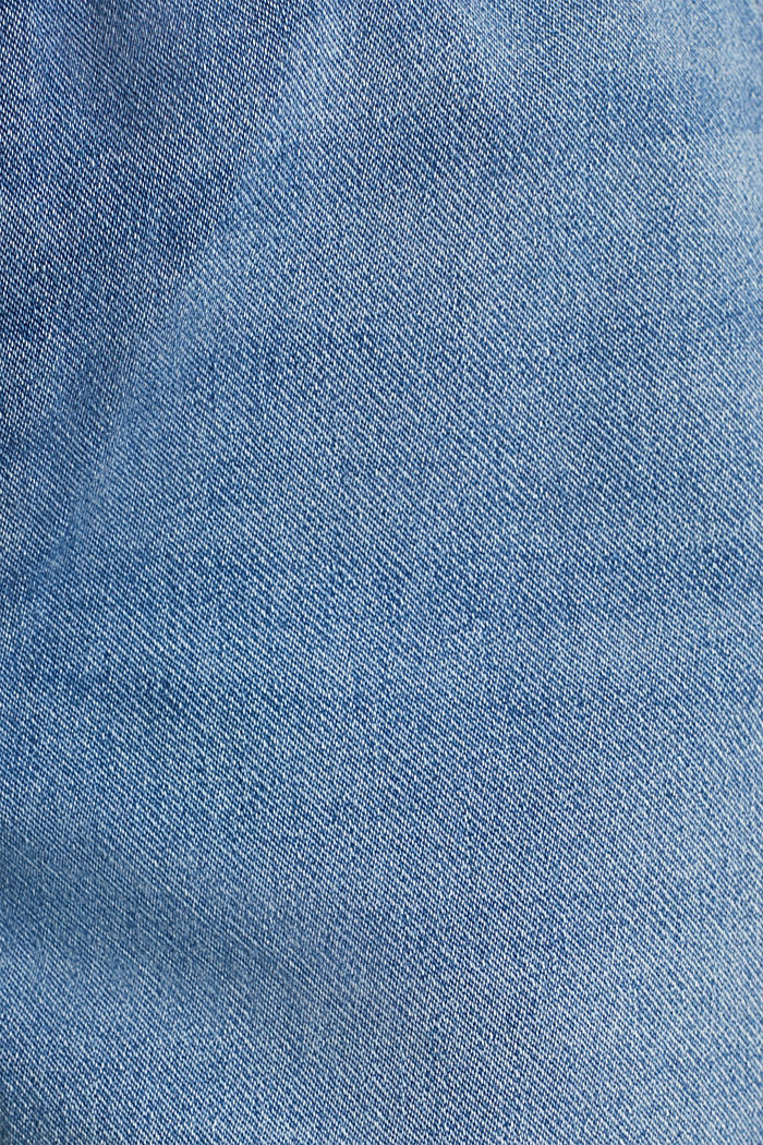 Denim shorts in tracksuit material, BLUE MEDIUM WASHED, detail image number 3