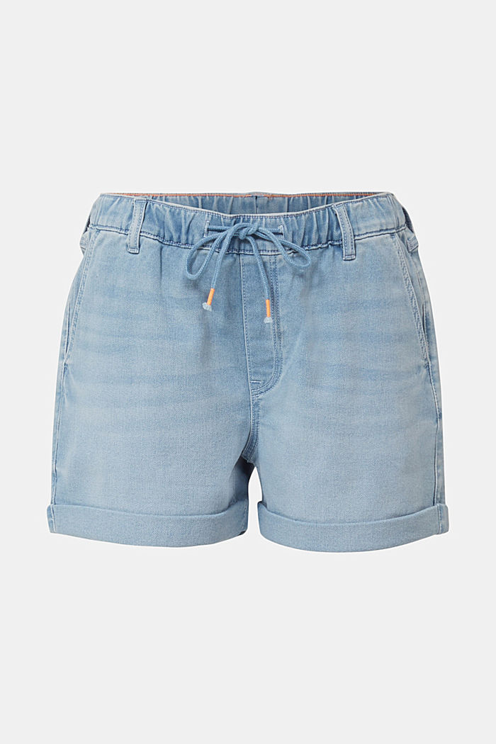 Denim-Shorts in Jogger-Qualität, BLUE LIGHT WASHED, detail image number 6