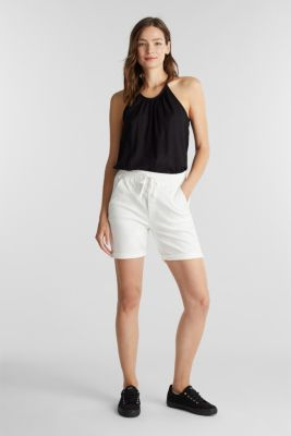 Shorts with an elasticated waistband, WHITE, detail
