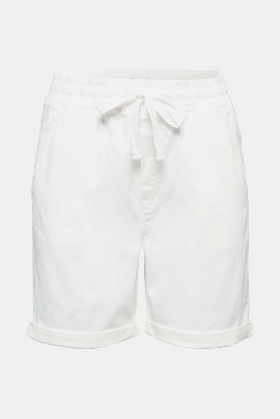 Shorts with an elasticated waistband, WHITE, detail image number 6