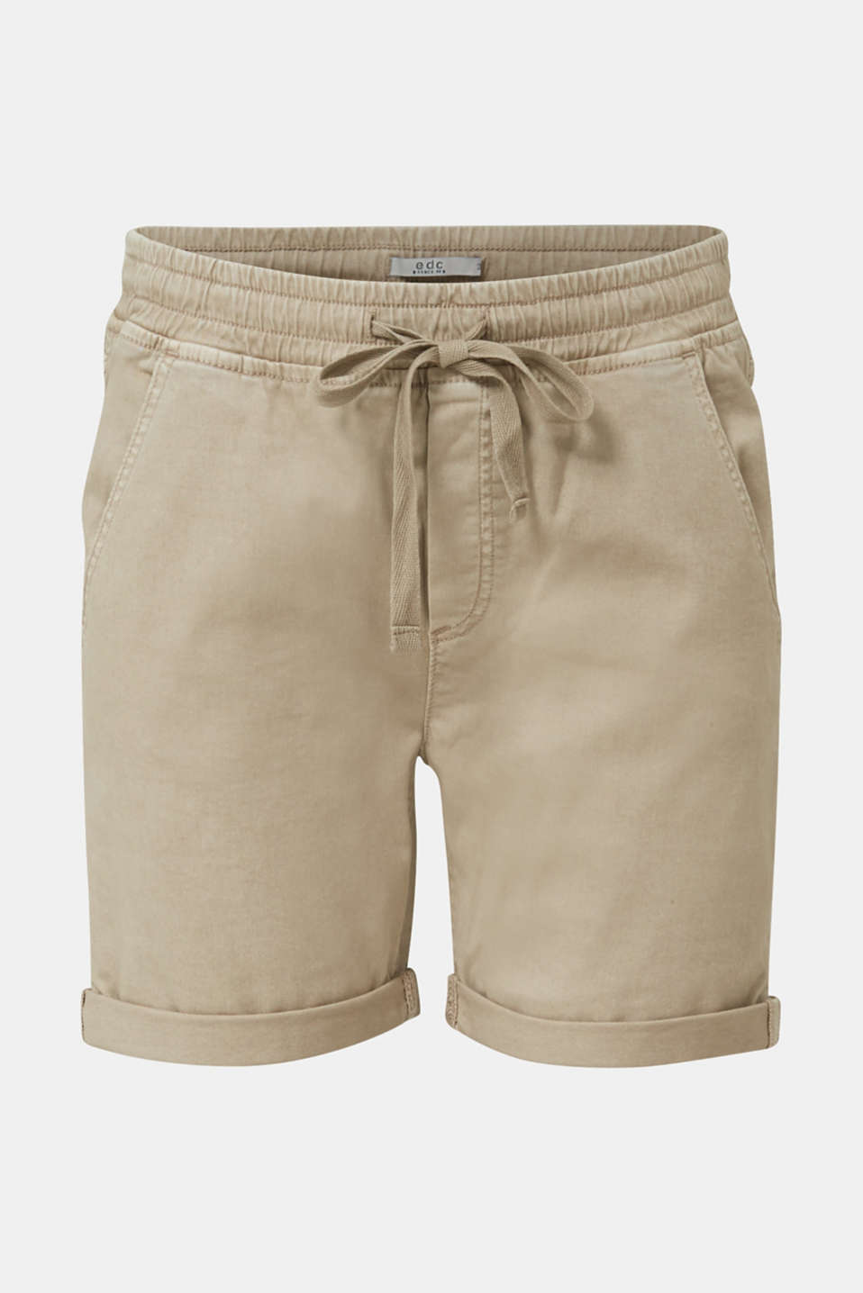 Shorts with an elasticated waistband, KHAKI BEIGE, detail image number 5