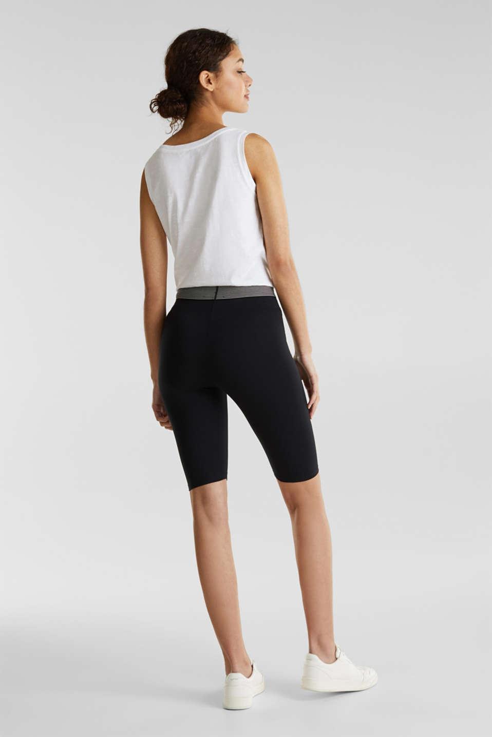 Organic cotton leggings, BLACK, detail image number 3