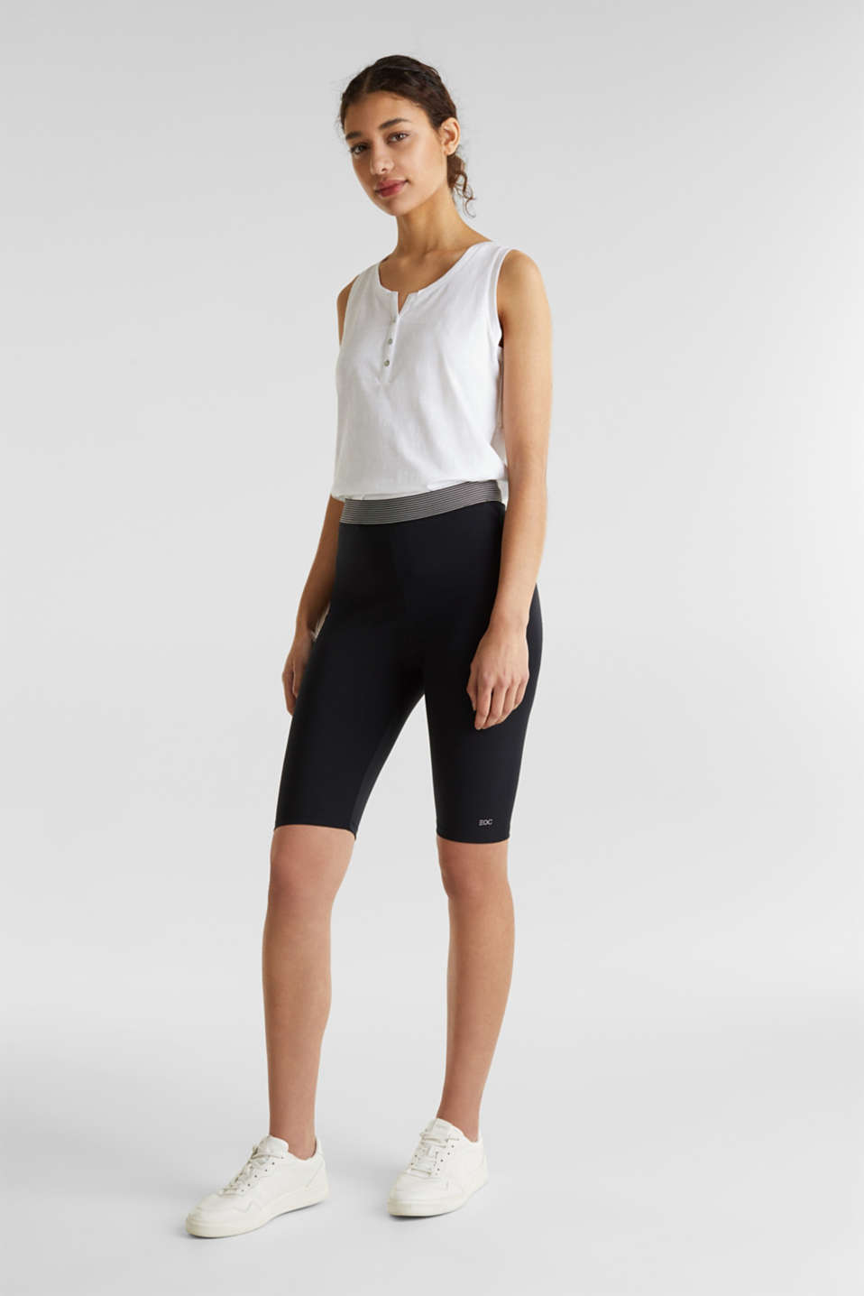 Organic cotton leggings, BLACK, detail image number 1