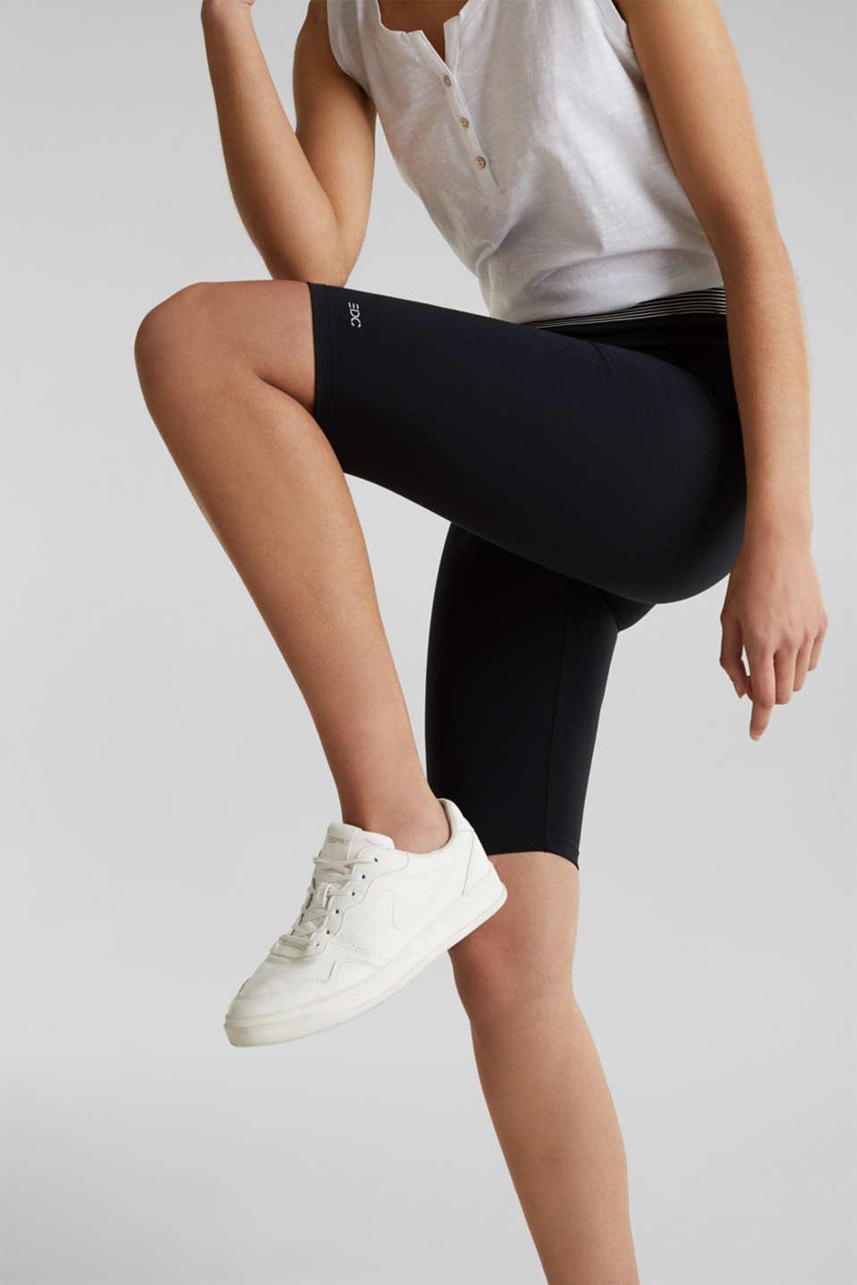 Organic cotton leggings, BLACK, detail image number 2